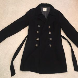 Black Old Navy trench coat